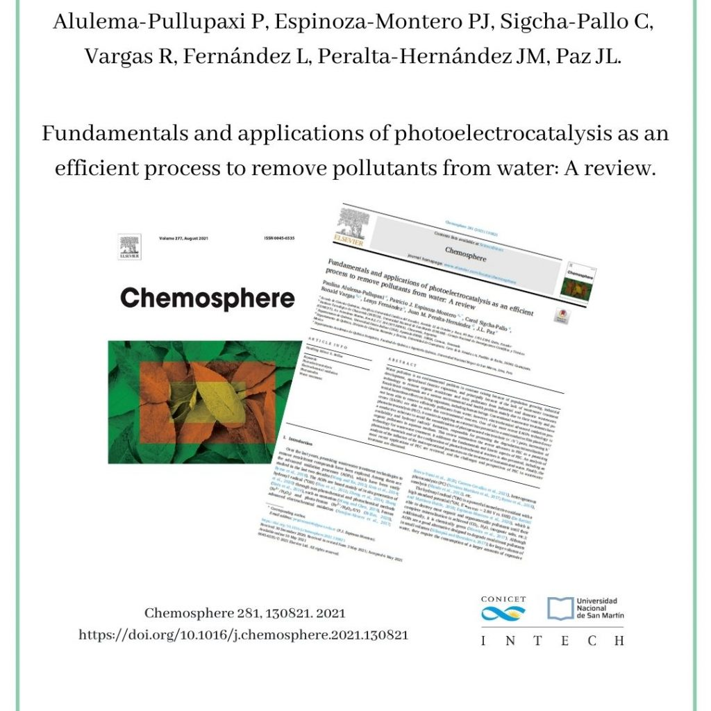 Alulema-Pullupaxi P, Espinoza-Montero PJ, Sigcha-Pallo C, Vargas R, Fernández L, Peralta-Hernández JM, Paz JL. Fundamentals and applications of photoelectrocatalysis as an efficient process to remove pollutants from water: A review.